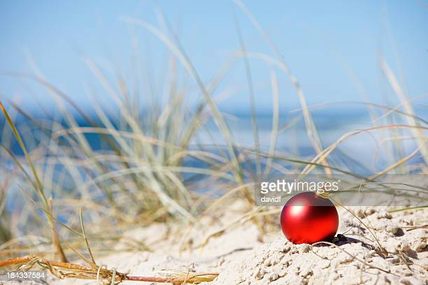 beach christmas decoration - beach christmas stock pictures, royalty-free photos & images