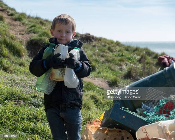 Beach clean on the Isle of Wight