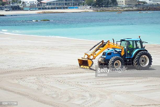Beach cleaning work to prepare them for the summer season