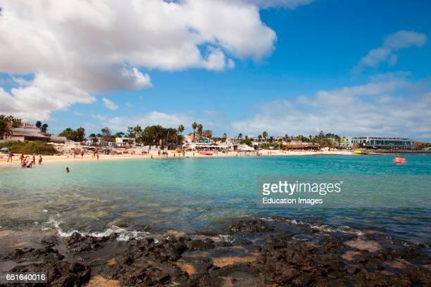 Beach Corralejo Town Fuerteventura Canarie