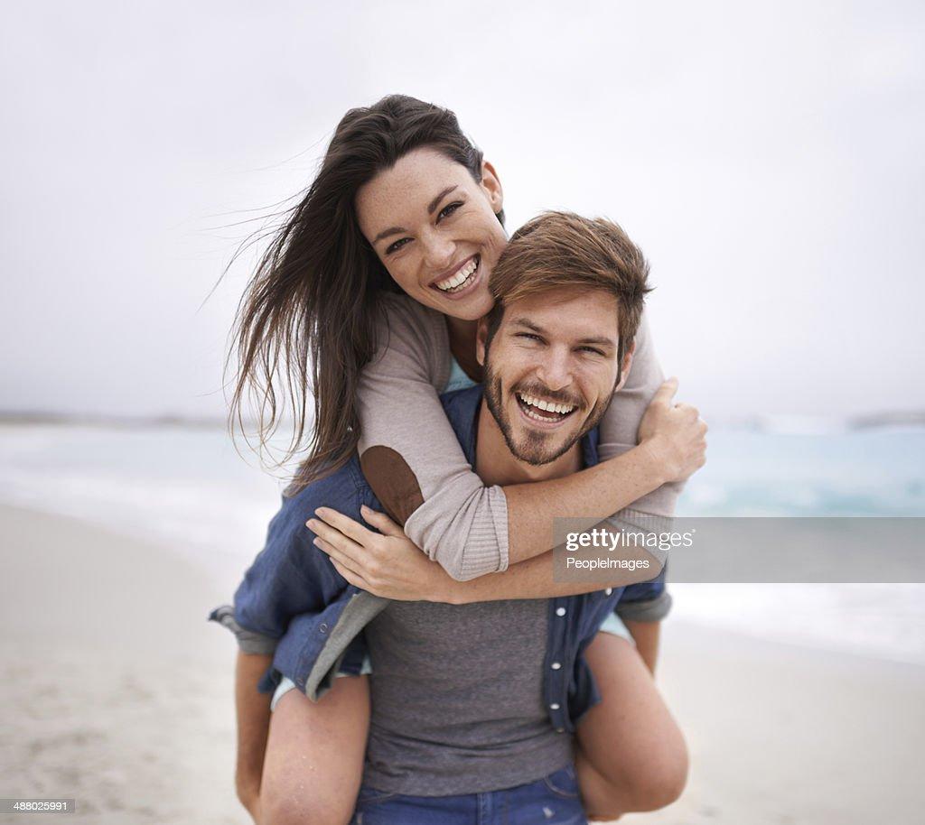 Beach date! : Stock Photo