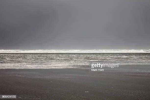beach during storm, Terschelling, West Frisian Islands, Netherlands