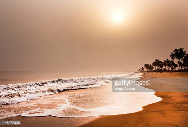 beach, elmina, ghana, west africa - ghana stock pictures, royalty-free photos & images