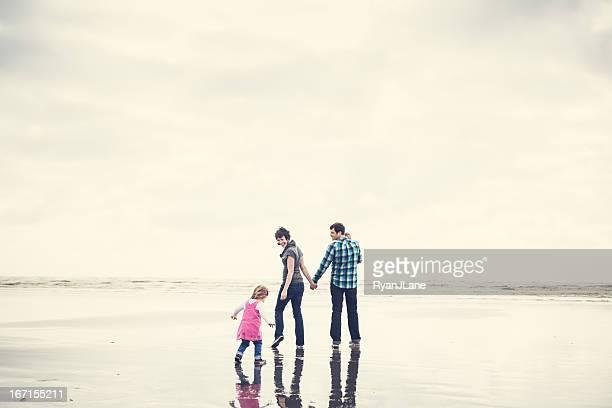 Loisirs en famille sur la plage