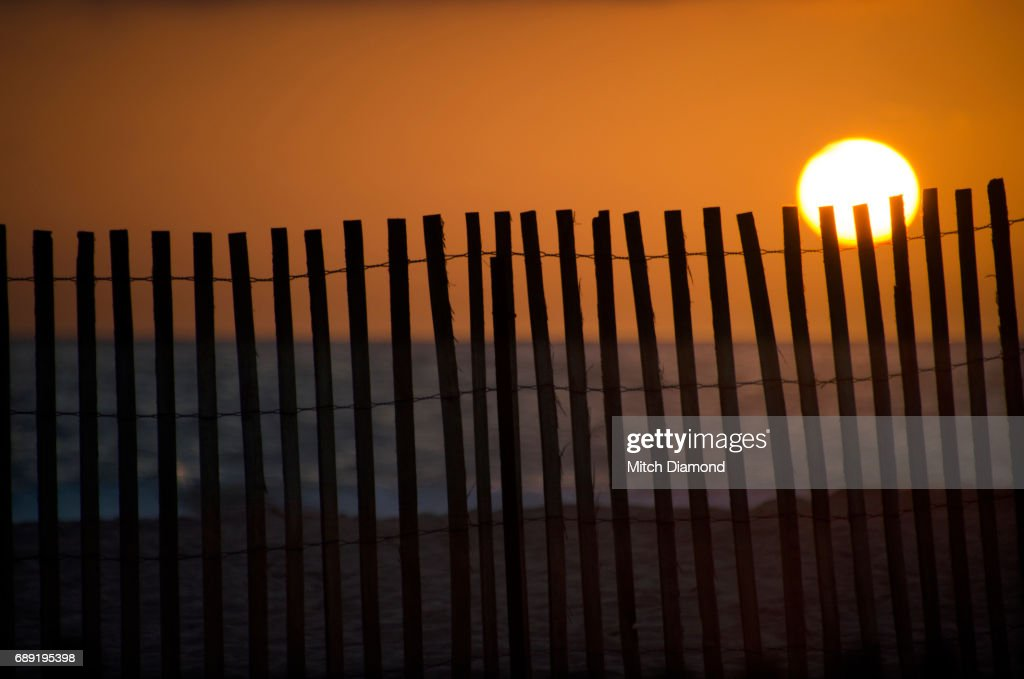 Beach Fence : Stock Photo
