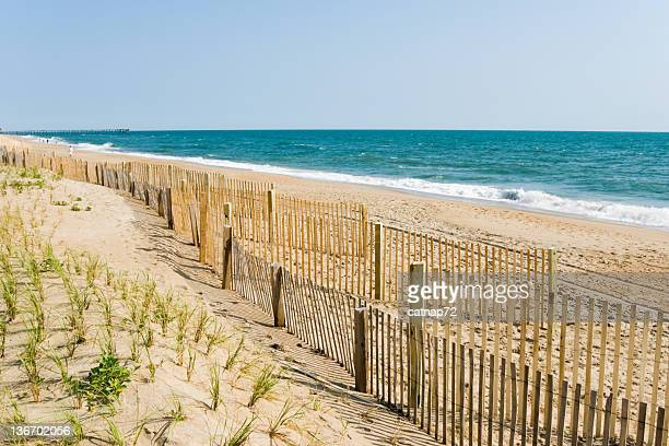 Beach Fences and Summer Morning Surf, Outer Banks