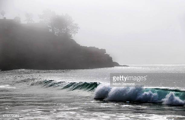 beach fog - laguna niguel stock pictures, royalty-free photos & images