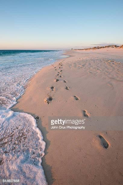 Beach foot prints