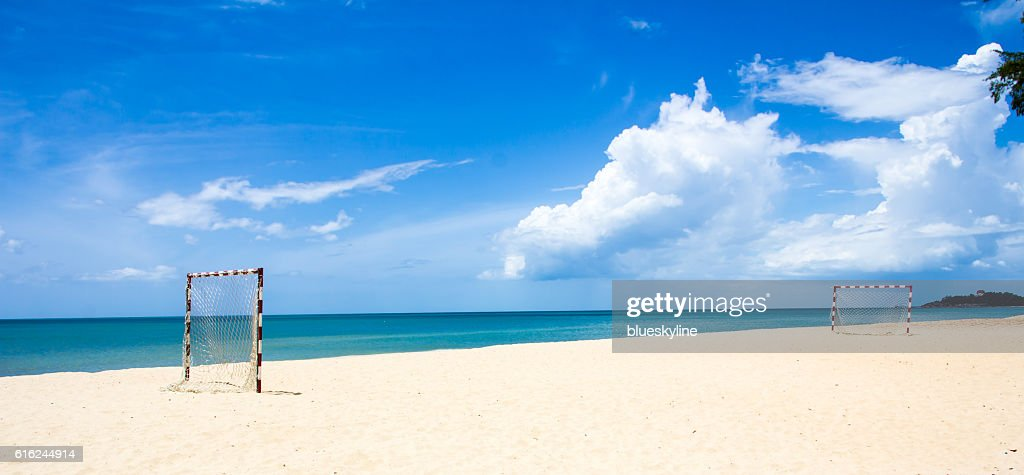 Beach football : Stock Photo