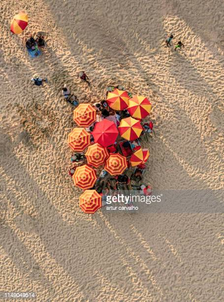 beach from above, summer crowd - angola stock pictures, royalty-free photos & images