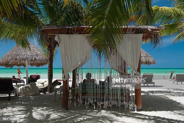 Beach front scene on Holbox Island, Mexico