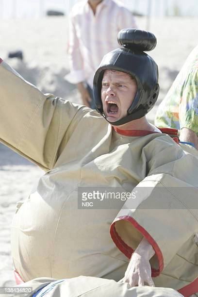 THE OFFICE Beach Games Episode 23 Aired 5/10/07 Pictured Rainn Wilson as Dwight Schrute