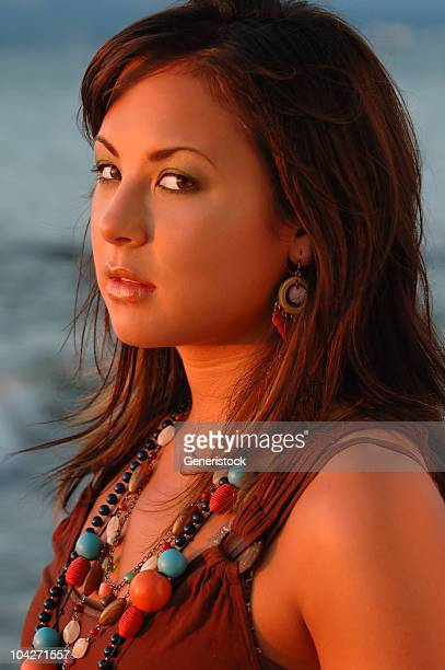 beach girl 5 - hot indian model stock pictures, royalty-free photos & images