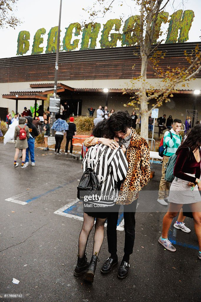 Beach Goth music fans attend the Beach Goth Music Festival at the Observatory on October 23, 2016 in Santa Ana, California.