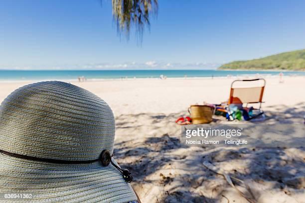 A beach hat and the Noosa Beach, Queensland, Australia