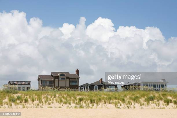 beach homes - virginia beach stock pictures, royalty-free photos & images
