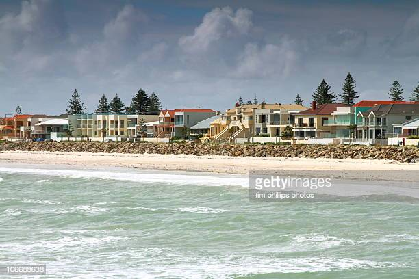 beach house adelaide australia - adelaide stock pictures, royalty-free photos & images