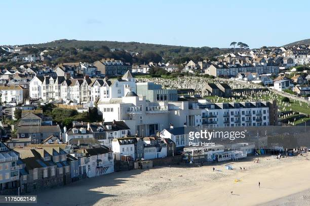 A beach houses and graveyard in St Ives during the 2019 September Summer Festival St Ives has become renowned for its number of artistsIt is the...