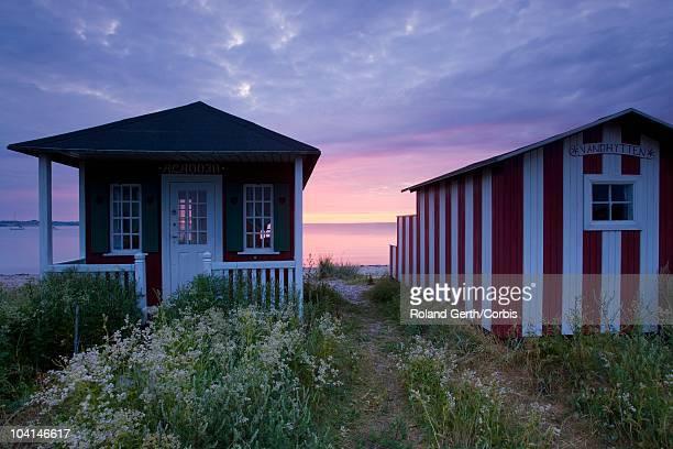 Beach houses on the sea