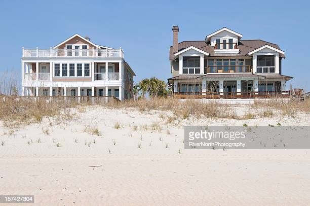 beach houses - beach house stock pictures, royalty-free photos & images