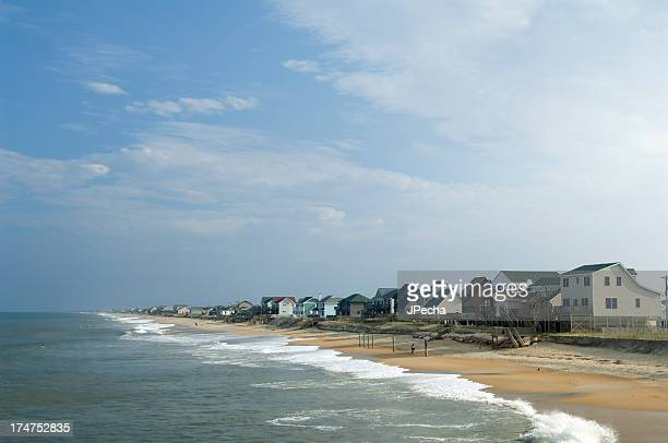 beach houses - outer banks stock pictures, royalty-free photos & images