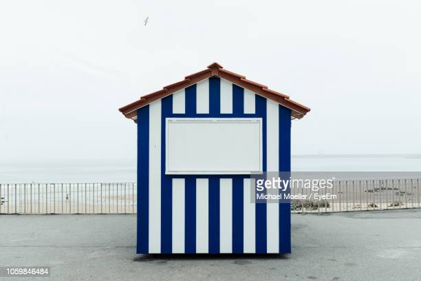 beach hut against clear sky - shack stock pictures, royalty-free photos & images