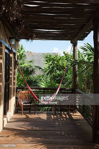 beach hut in quintana roo, caribbean - quintana roo stock photos and pictures