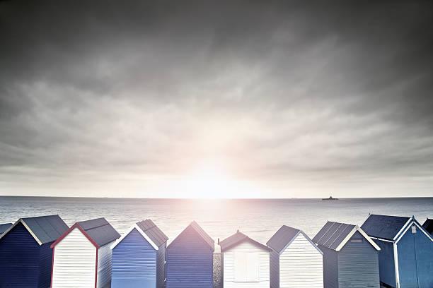 Beach Hut Sunset Wall Art