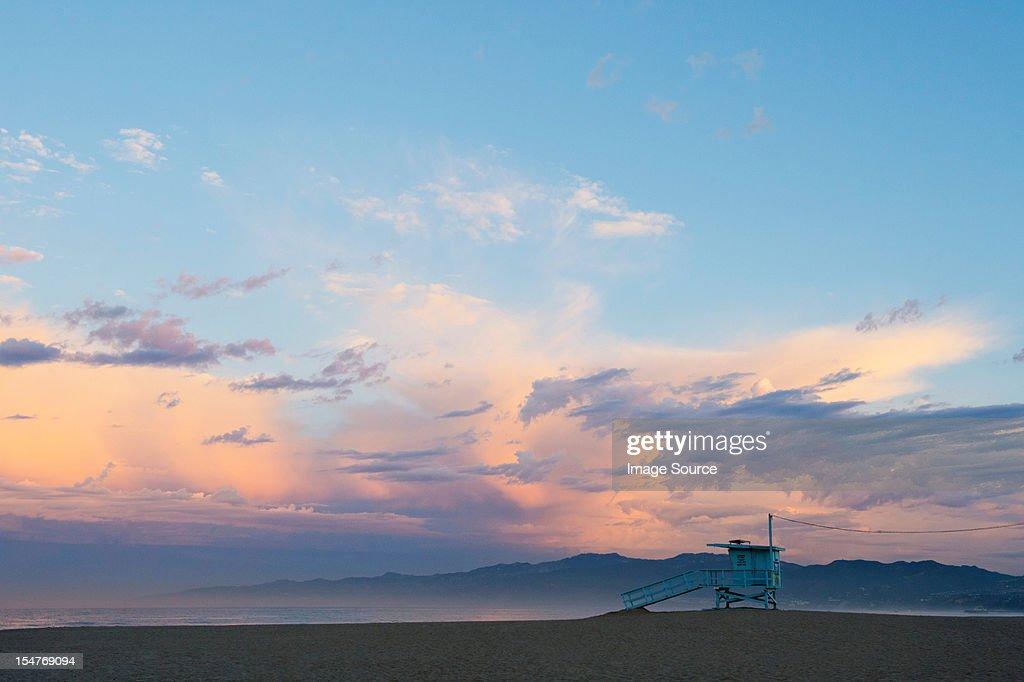 Beach hut, venice beach, california, usa : Stock Photo