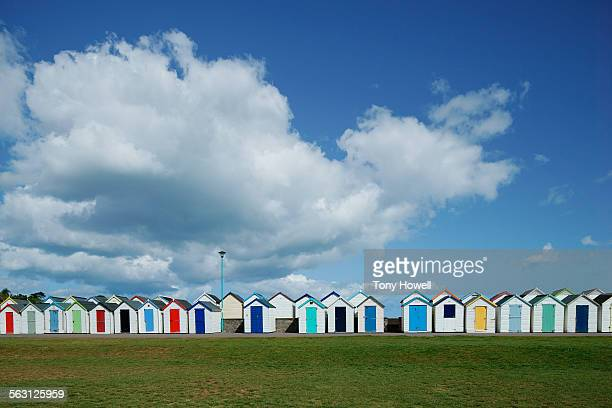 Beach Huts and clouds, Paignton
