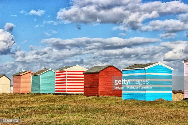 Beach huts at Littlestone, Kent