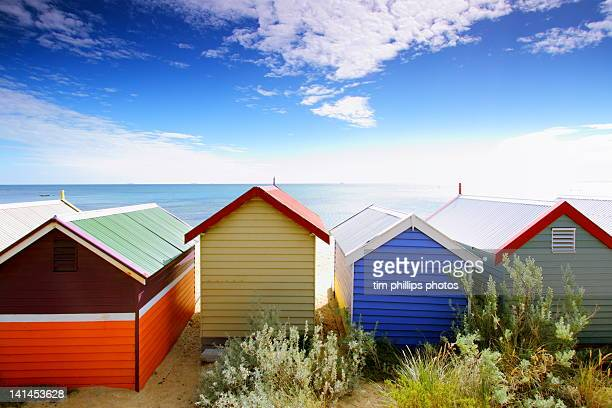Beach huts at Melbourne Beach