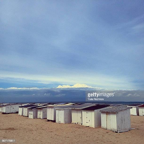 Beach huts in Calais