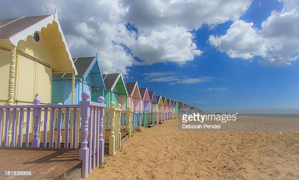Beach huts on Mersea Island
