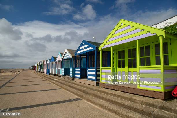 beach huts - beach hut stock pictures, royalty-free photos & images