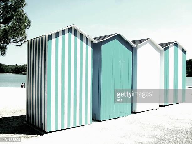 beach huts - beach house stock pictures, royalty-free photos & images