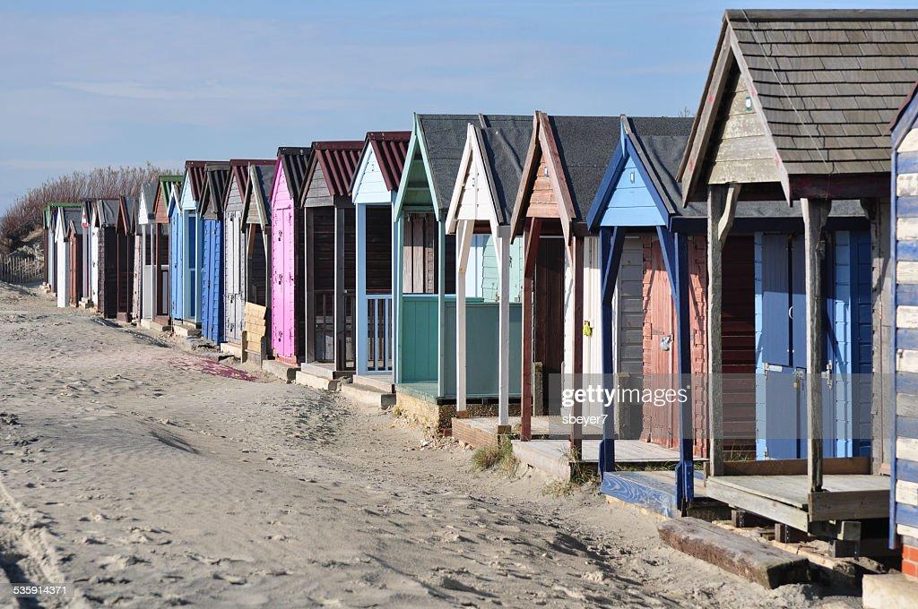 Cabañas en la playa : Foto de stock