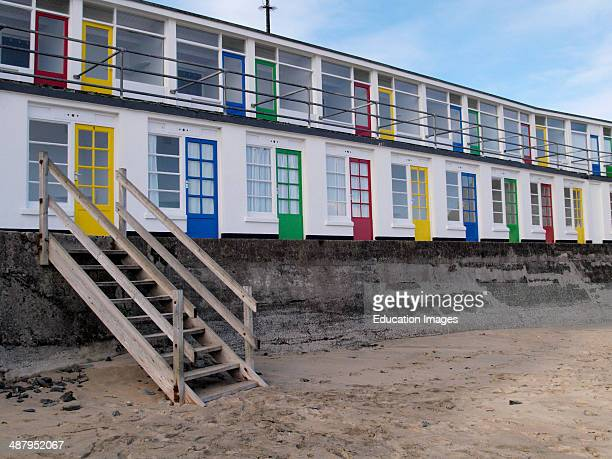 Beach Huts Porthgwidden Beach St Ives Cornwall UK