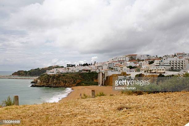 beach in albufeira - hutton stock photos and pictures