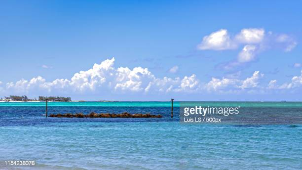 a beach in bahamas - ls island stock photos and pictures