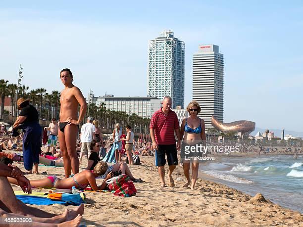 praia em barcelona - espanha - fotografias e filmes do acervo