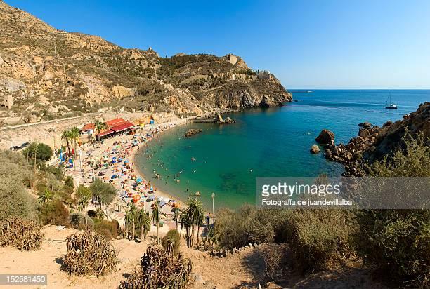 beach in cartagena - murcia - fotografias e filmes do acervo