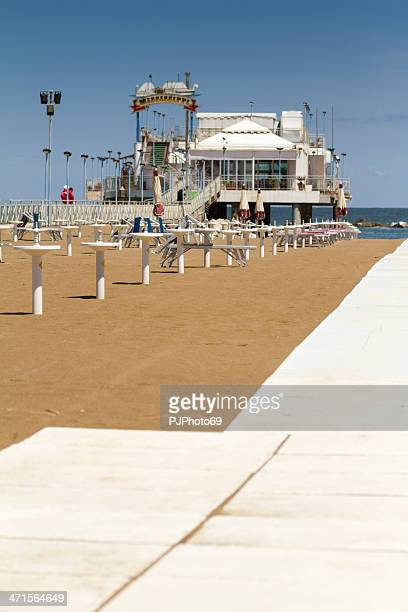 beach in gabicce mare (italy) - pjphoto69 stock pictures, royalty-free photos & images