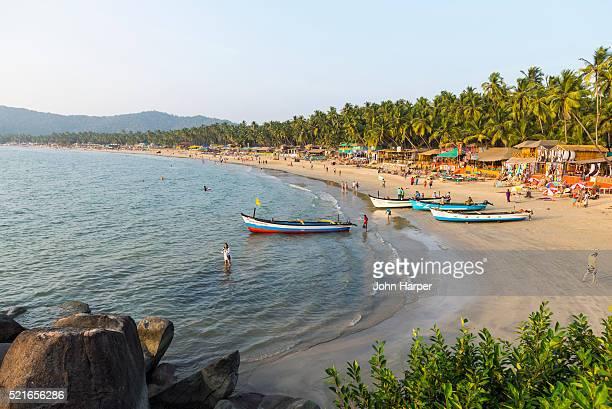 beach in goa, india - goa stock pictures, royalty-free photos & images