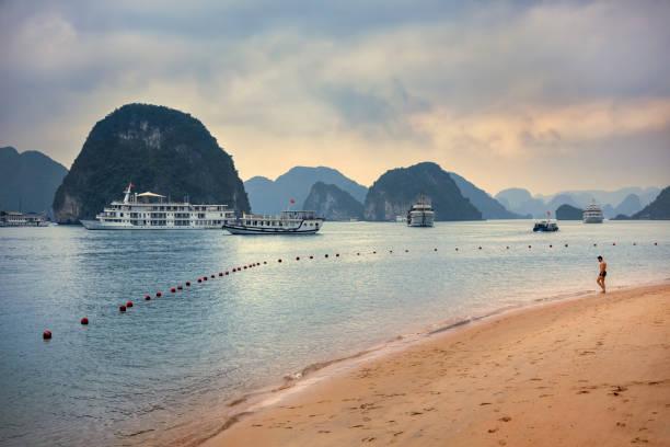 Beach in Ha Long Bay, Vietnam