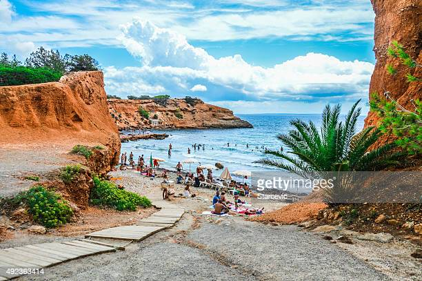 beach in ibiza - balearic islands stock pictures, royalty-free photos & images