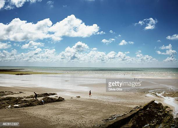 Beach in Jullouville, Normandy