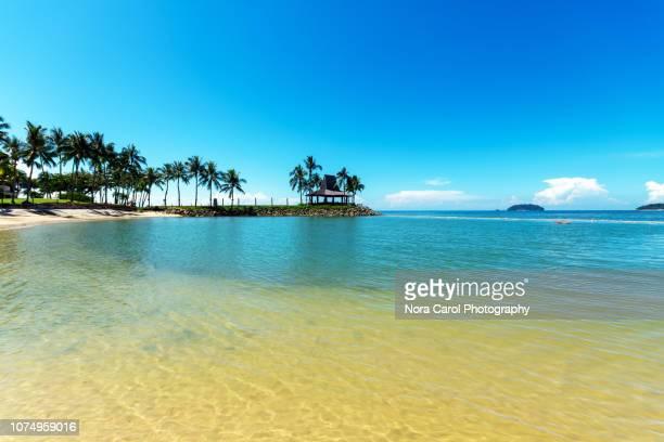 beach in kota kinabalu sabah borneo - island of borneo stock pictures, royalty-free photos & images