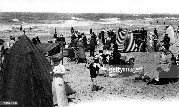 Beach in Le Touquet , north of France, in 1911