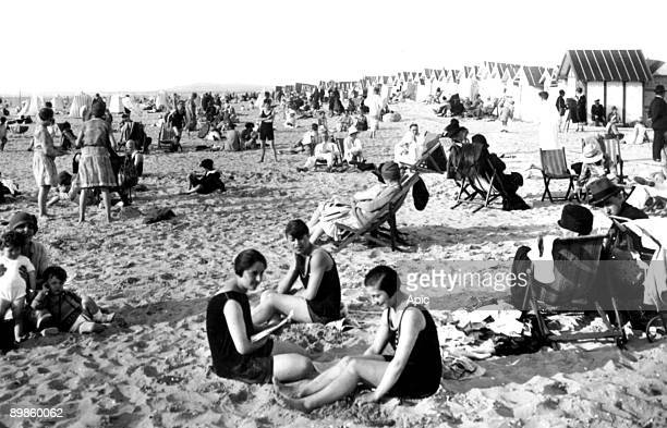 beach in Le Touquet north of France in 1933
